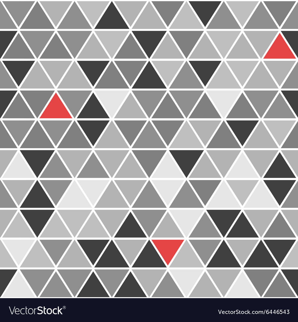 Geometrical seamless pattern with triangles vector