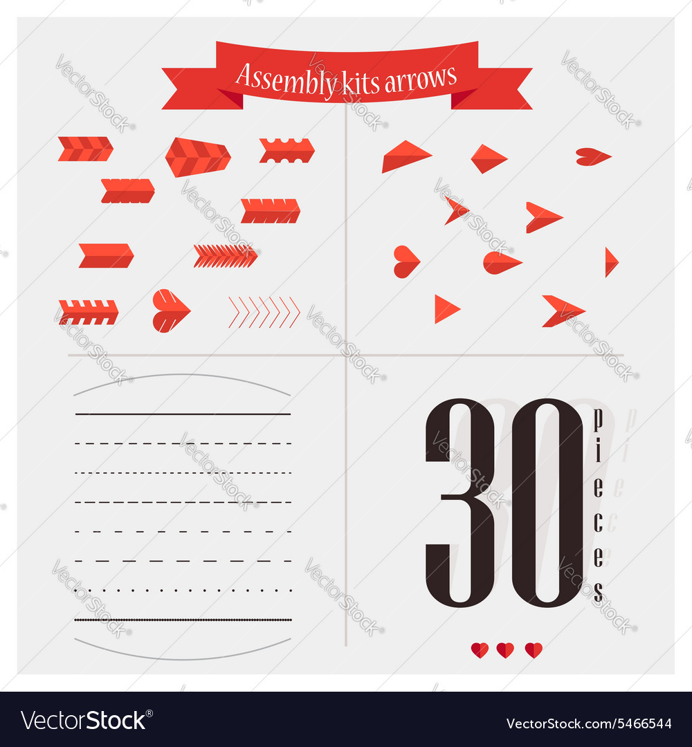 Arrows for valentine vector
