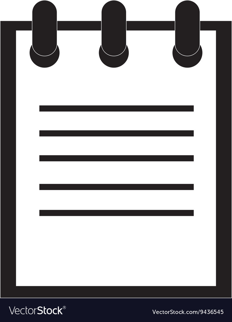 Lined wired notebook vector