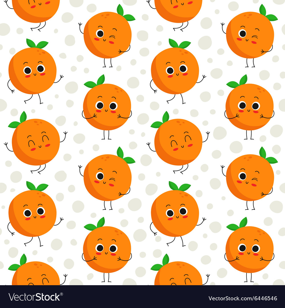 Oranges seamless pattern vector