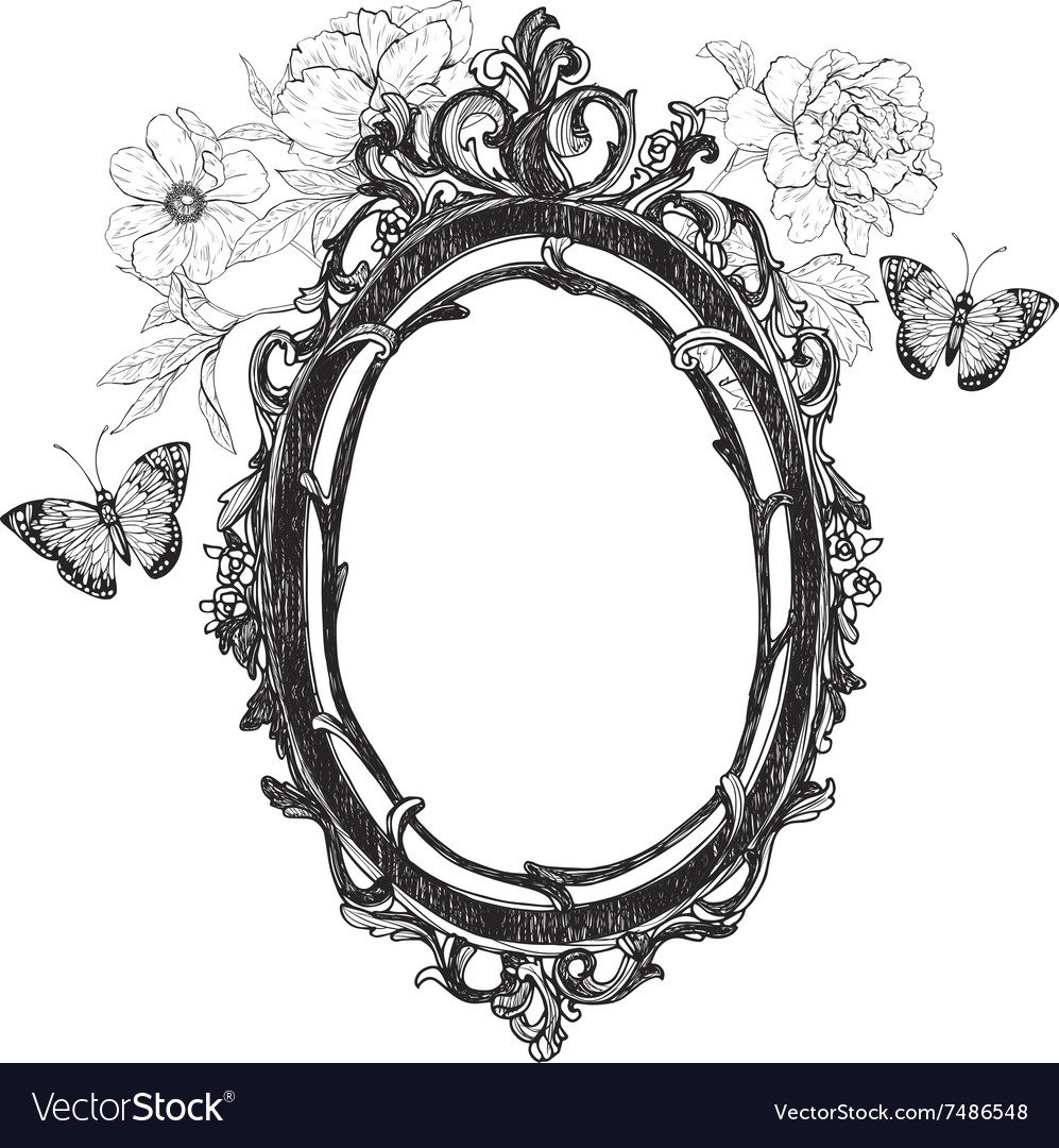Vintage hand drawn frame vector