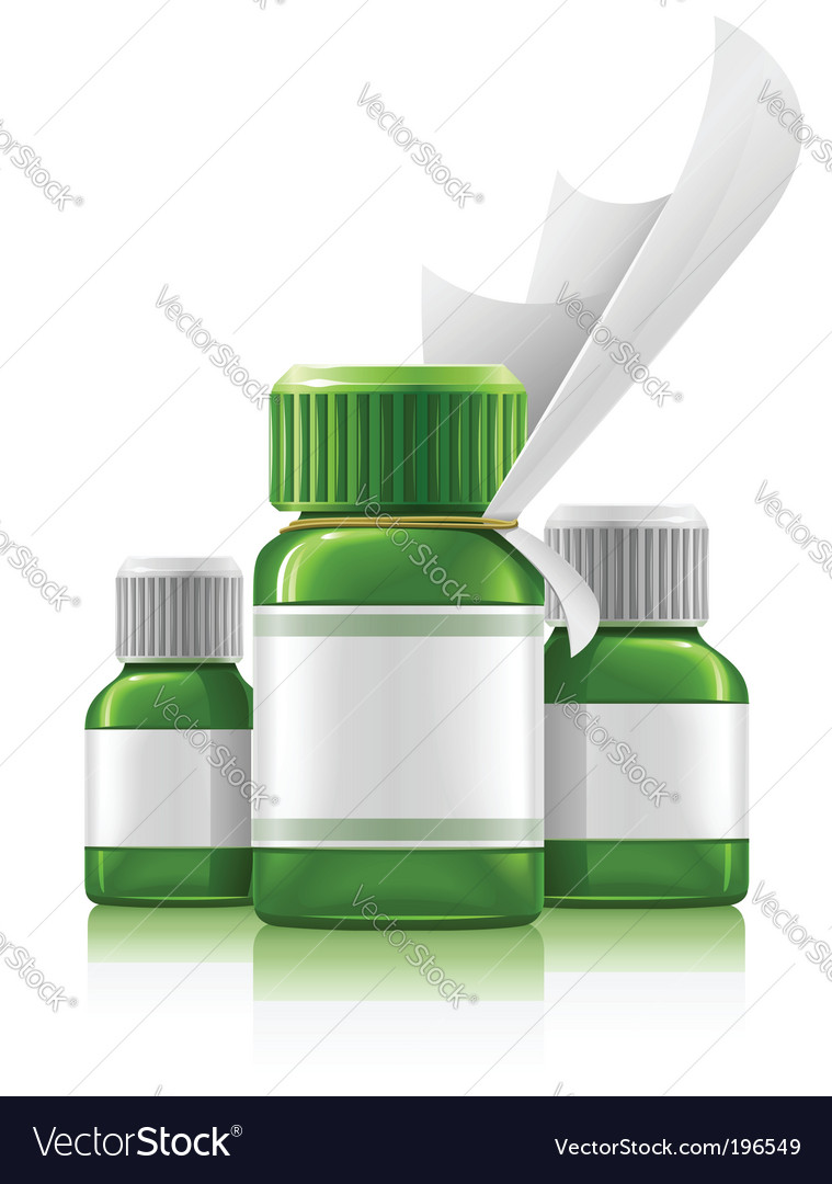Medication bottles vector