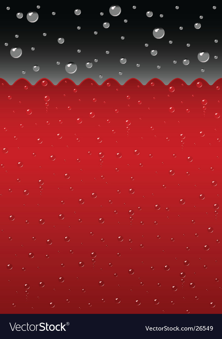 Sparkling red liquid background vector
