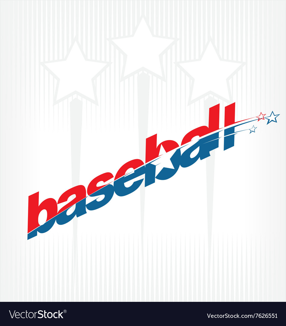 Baseball sport text logo vector