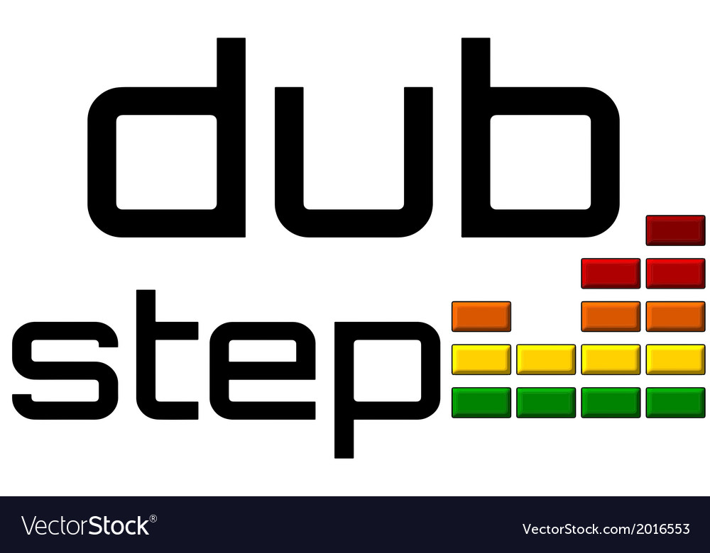 Dubstep with dj equalizer music volume on alpha vector