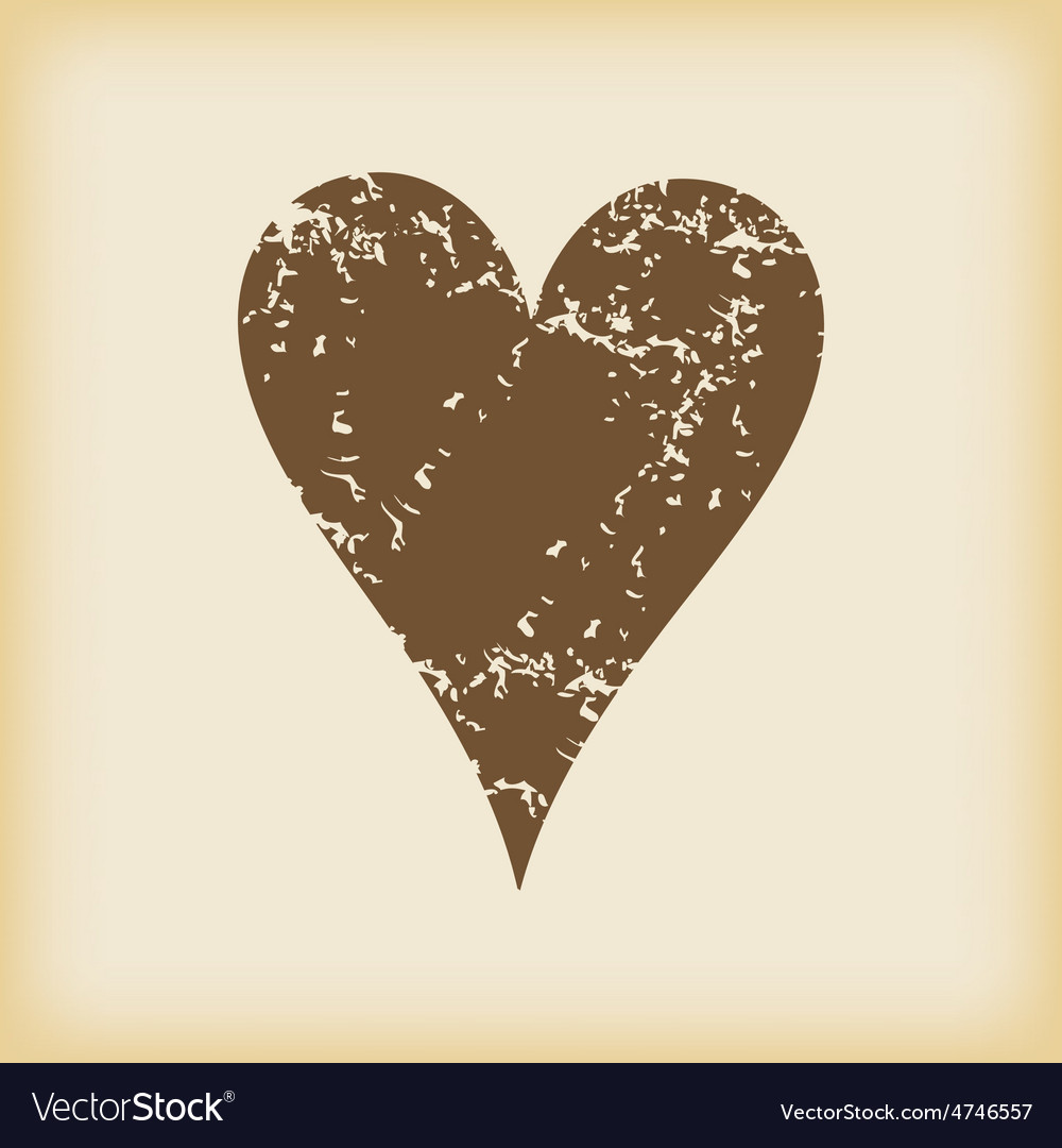 Grungy hearts icon vector