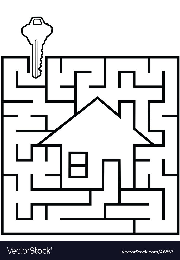 Real estate maze vector