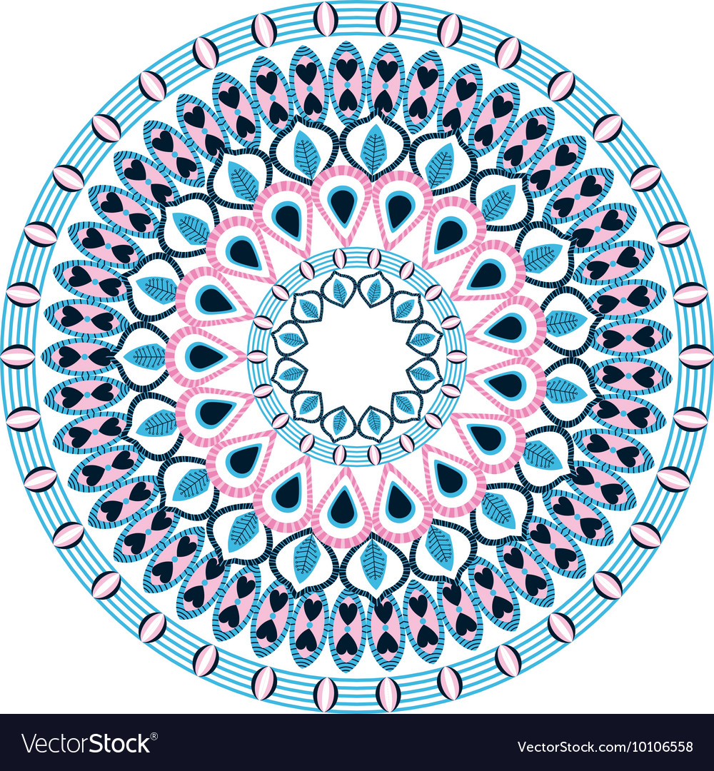 Colorful intricate mandala icon vector