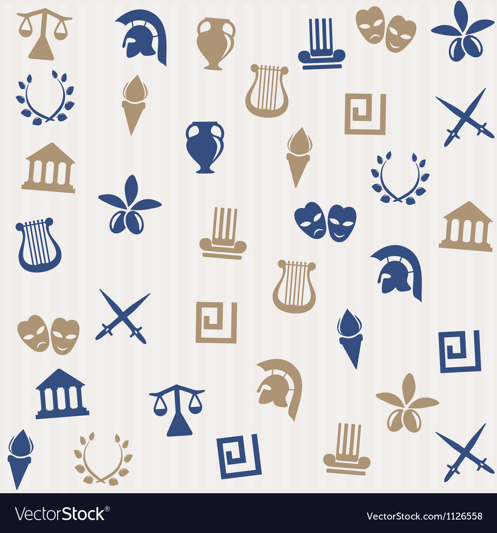 Greek seamless pattern vector