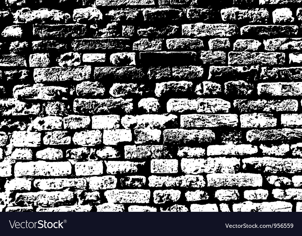 Brick background vector