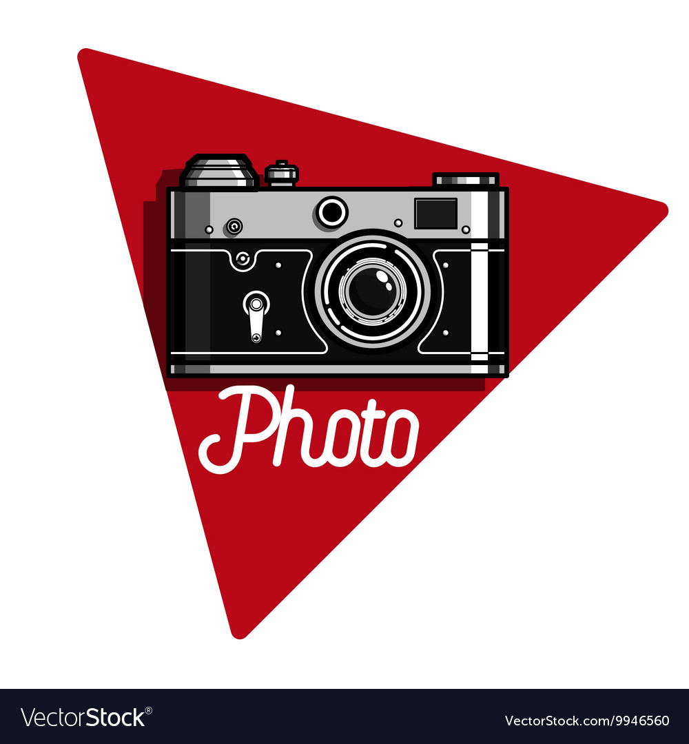 Color vintage photographer emblem vector