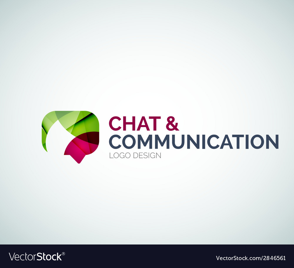 Chat and communication logo design vector