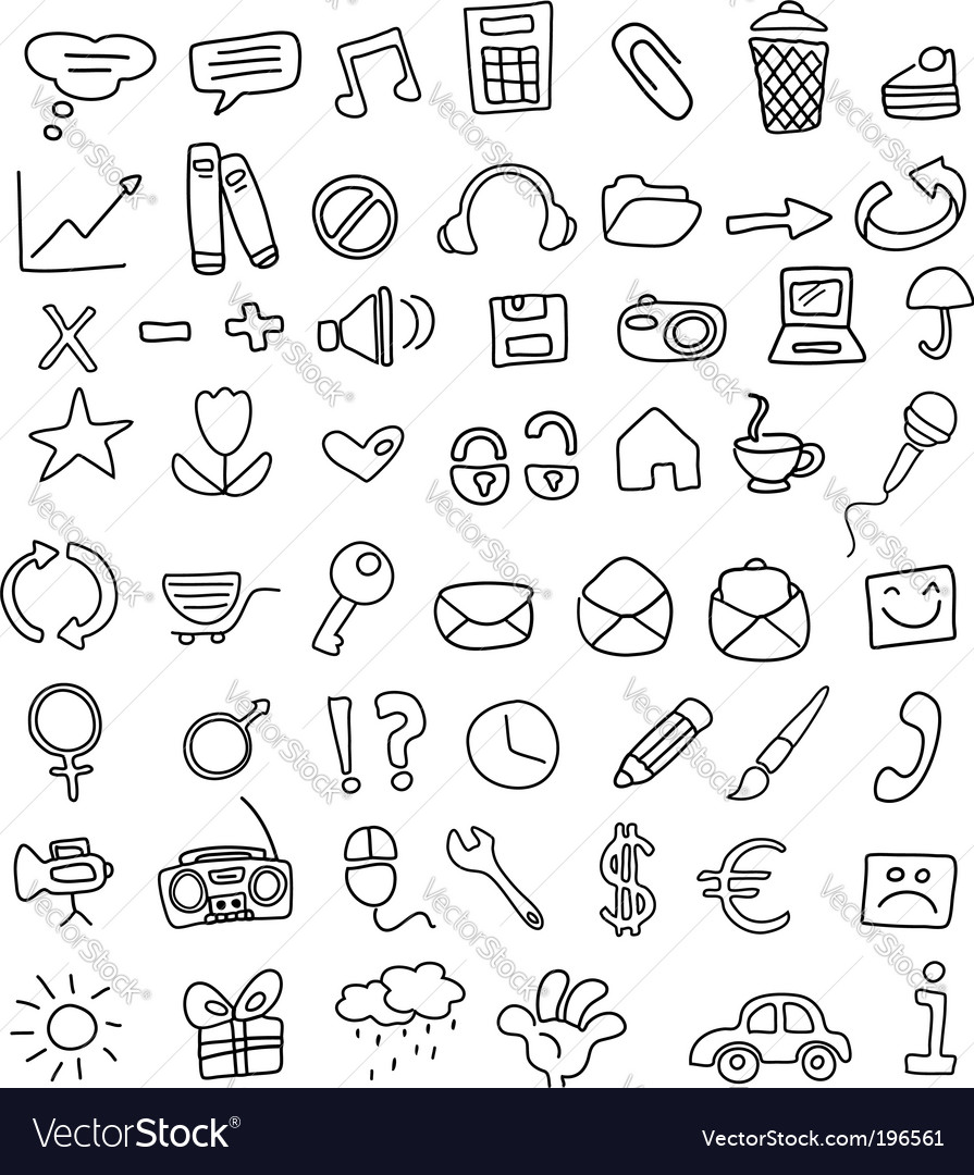 Icon doodles vector