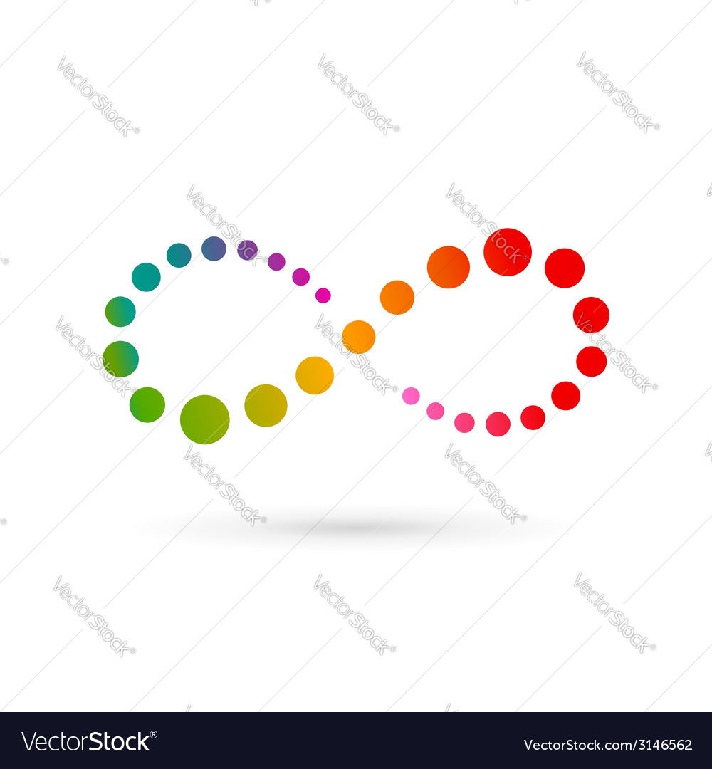 Infinity loop symbol logo icon design template vector