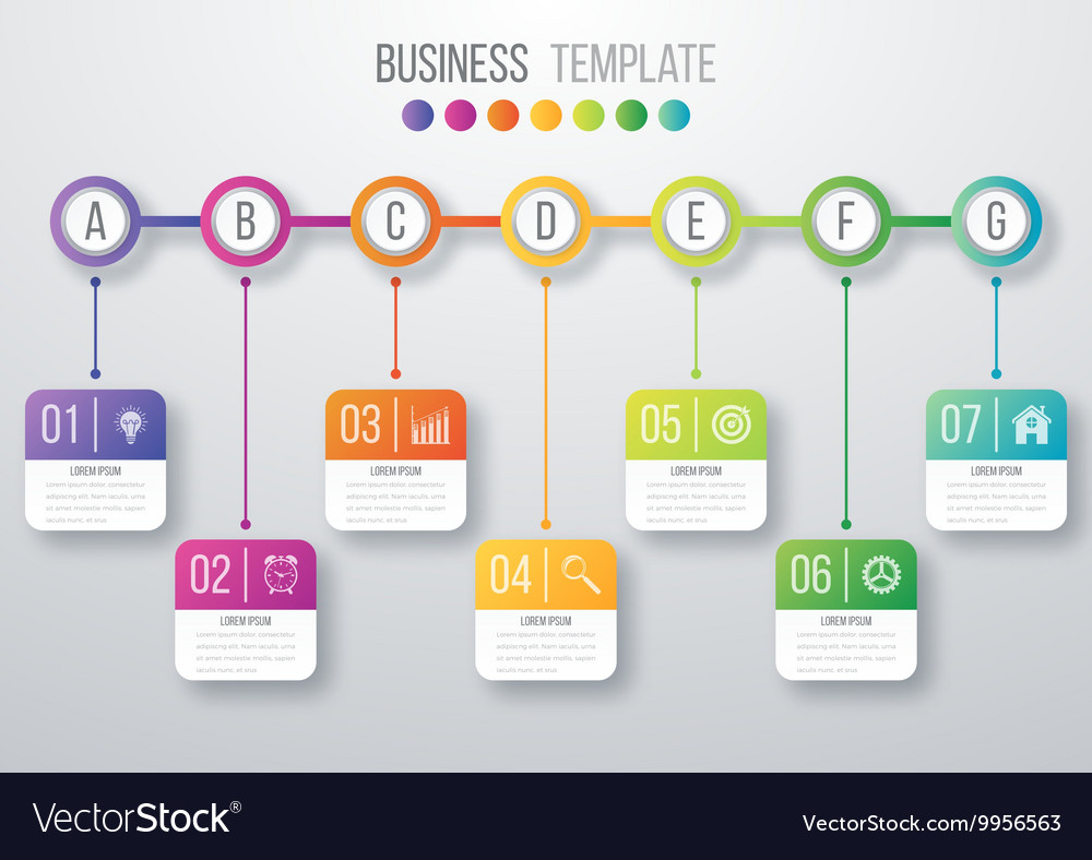 Infographic timeline vector