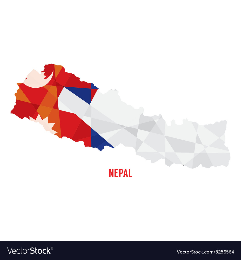 Map of nepal vector
