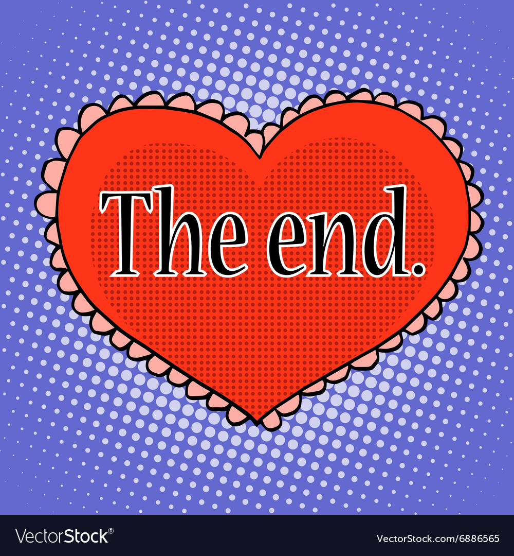 End of love red heart vector