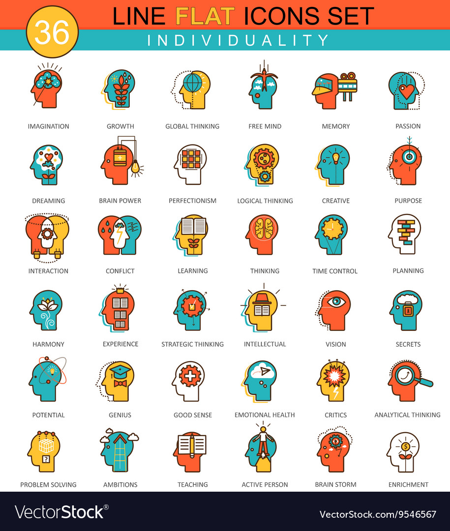 Human personality and individuality vector