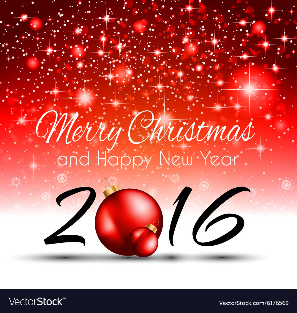 2016 happy new year background for your christmas vector