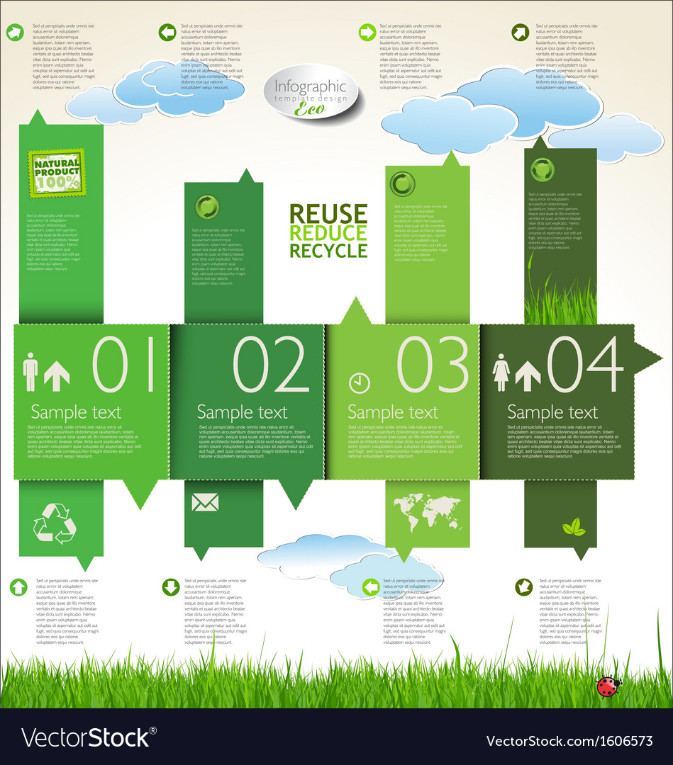 Infographic ecology template design vector