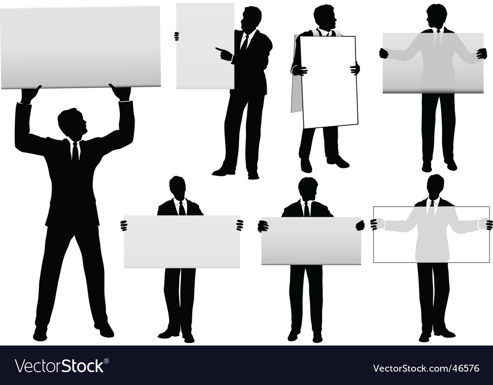 Businessmen background vector