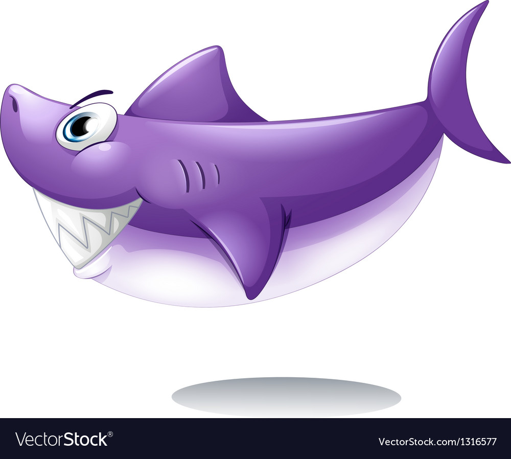 A big smiling shark vector