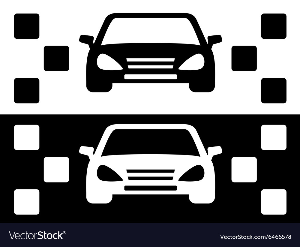 Taxi simple icon vector