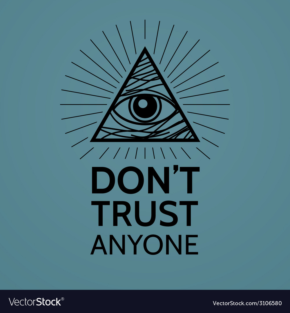 Concept with eye of providence vector
