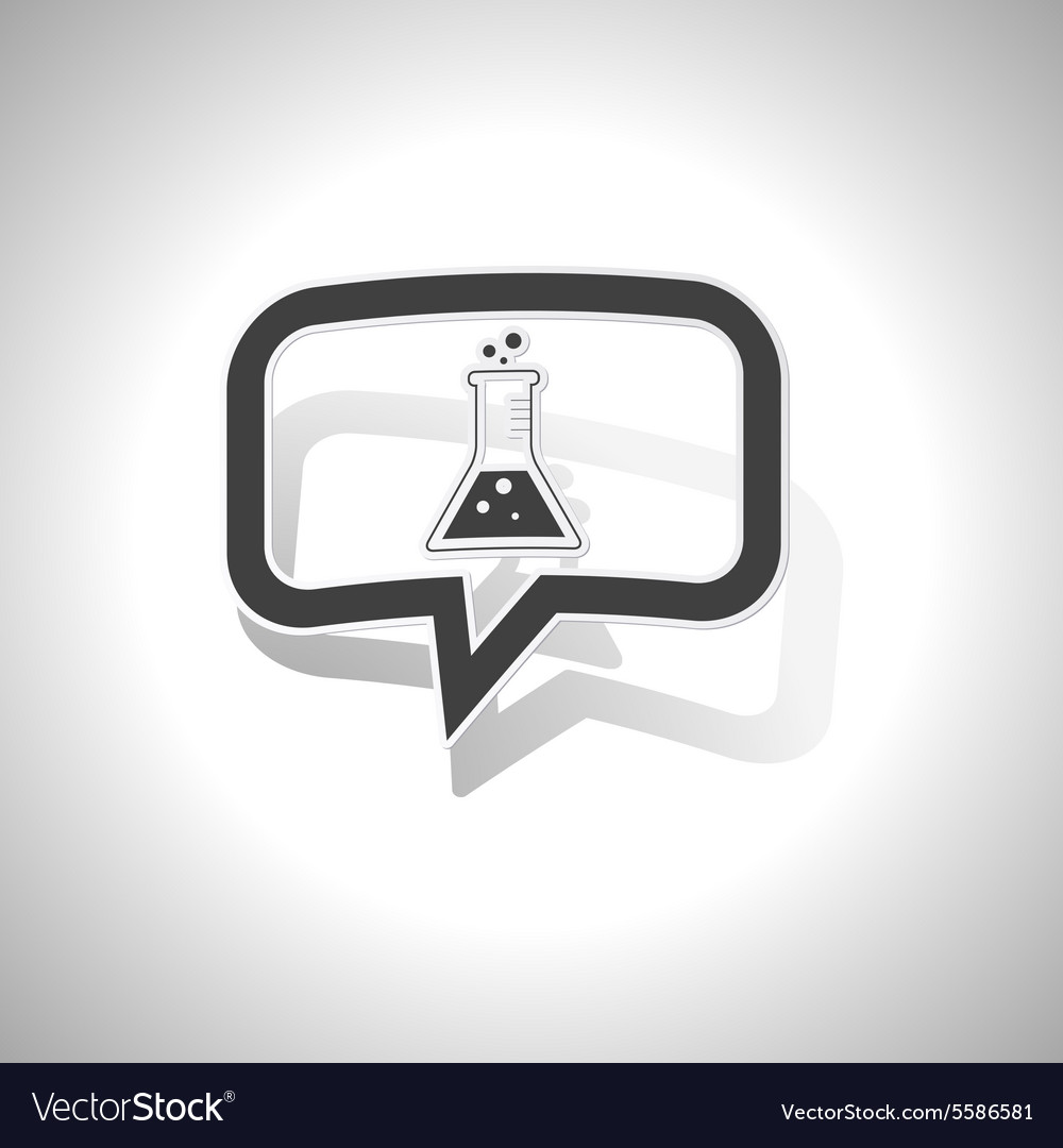 Curved conical flask message icon vector