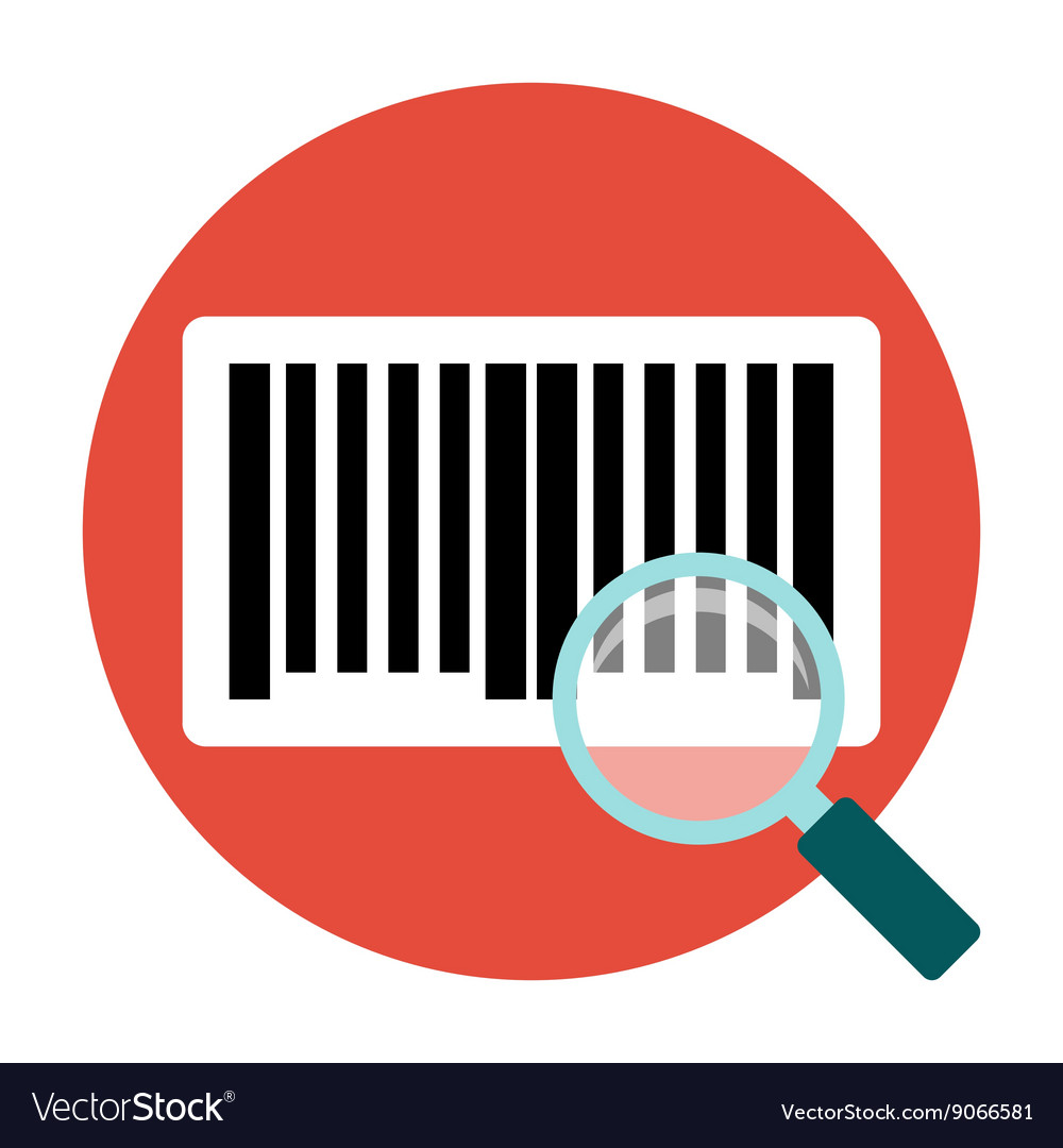 Identification barcode flat icon vector
