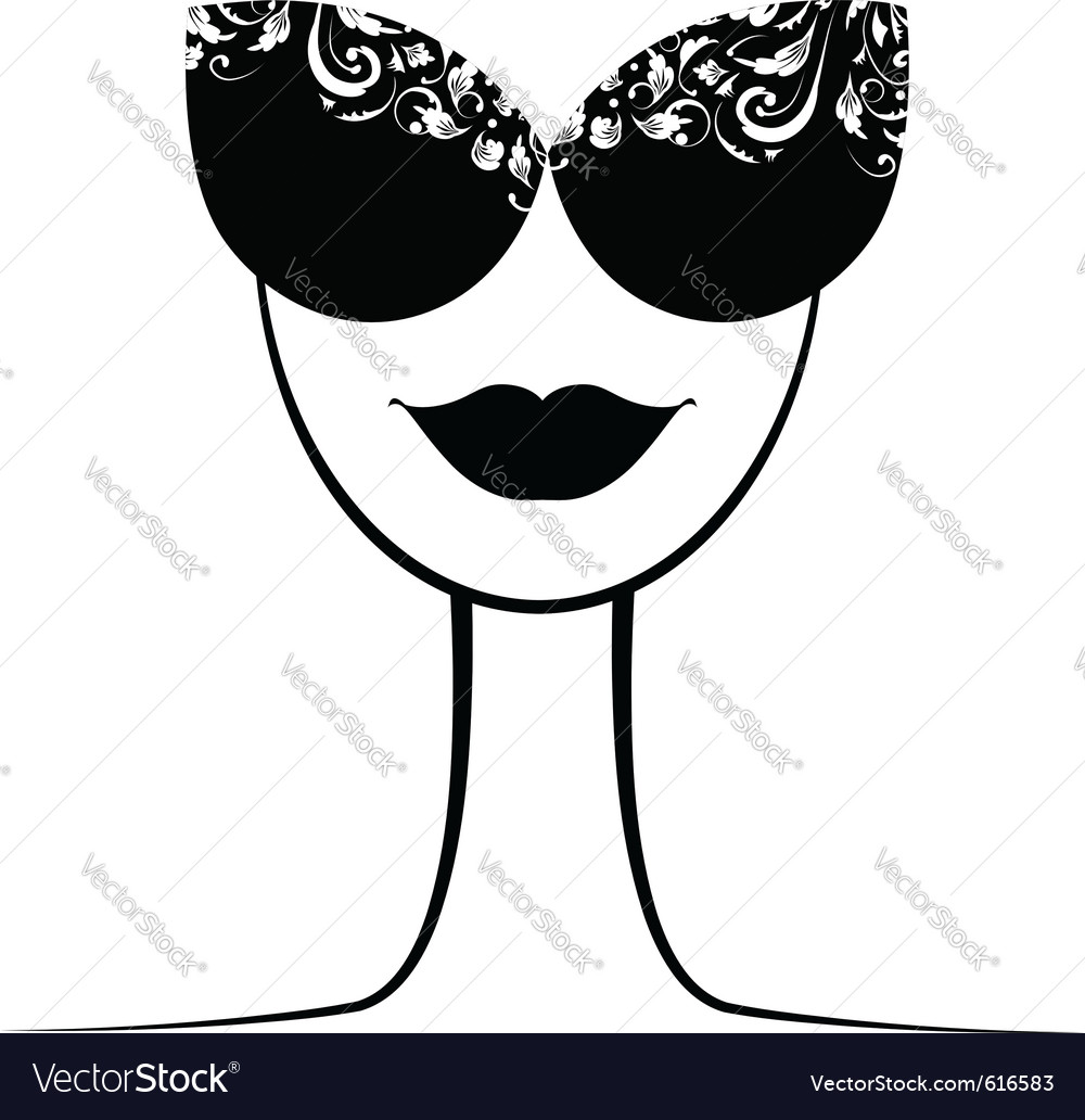 Female fashion silhouette vector