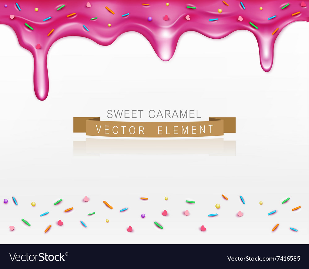 Icing with sprinkles vector
