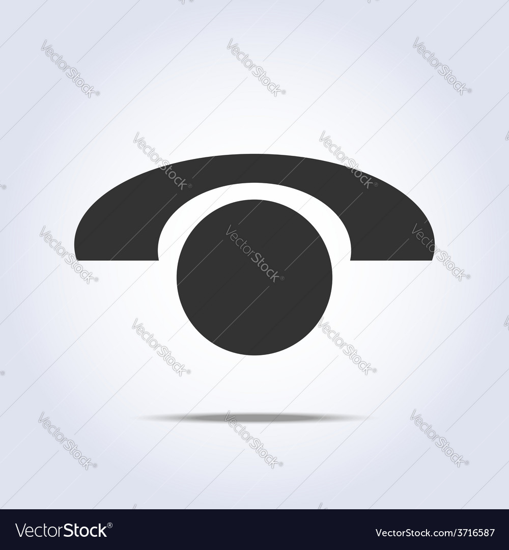 Phone retro icon in vector