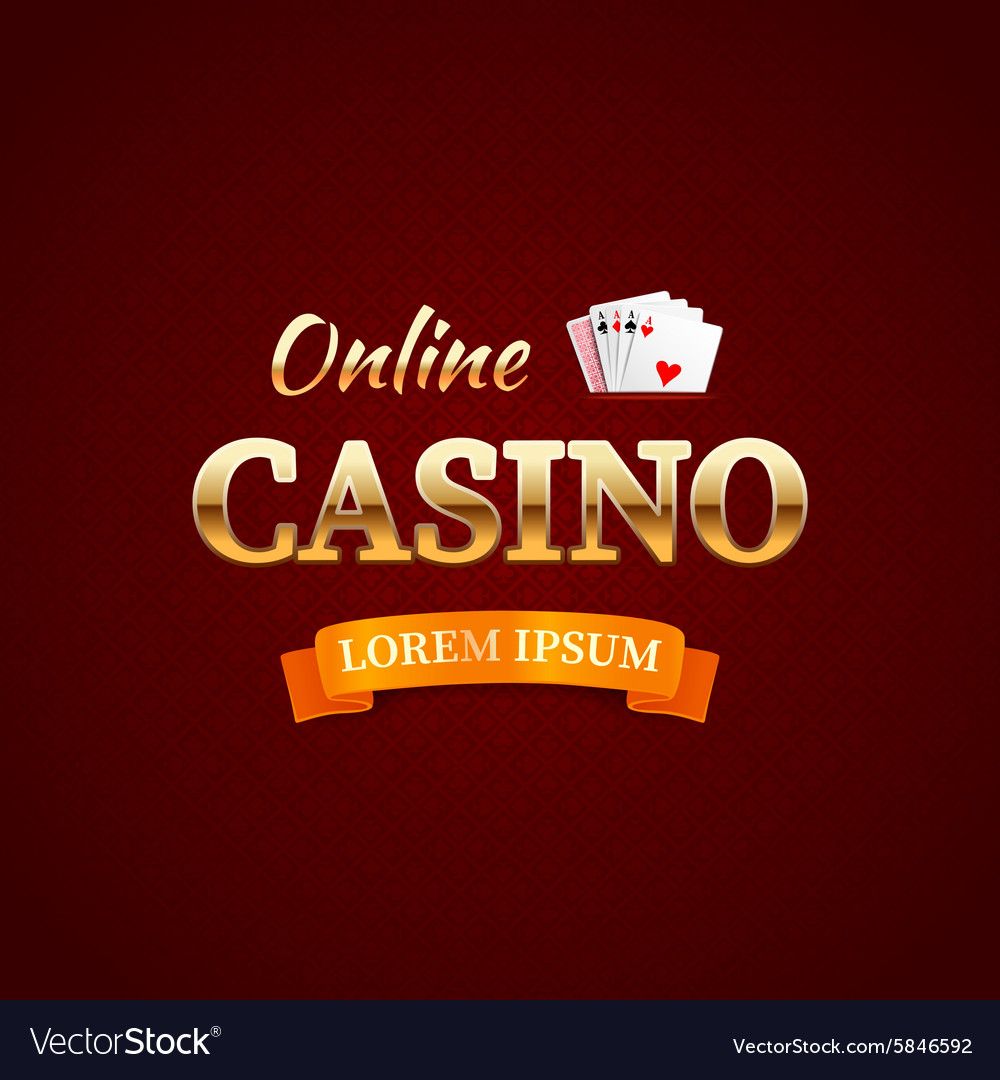Casino logotype concept casino typography design vector