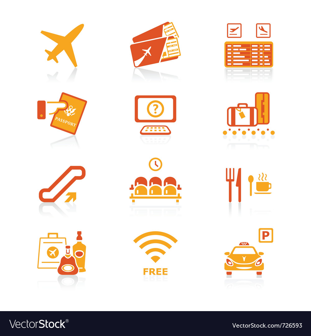 Airport icons  juicy series vector