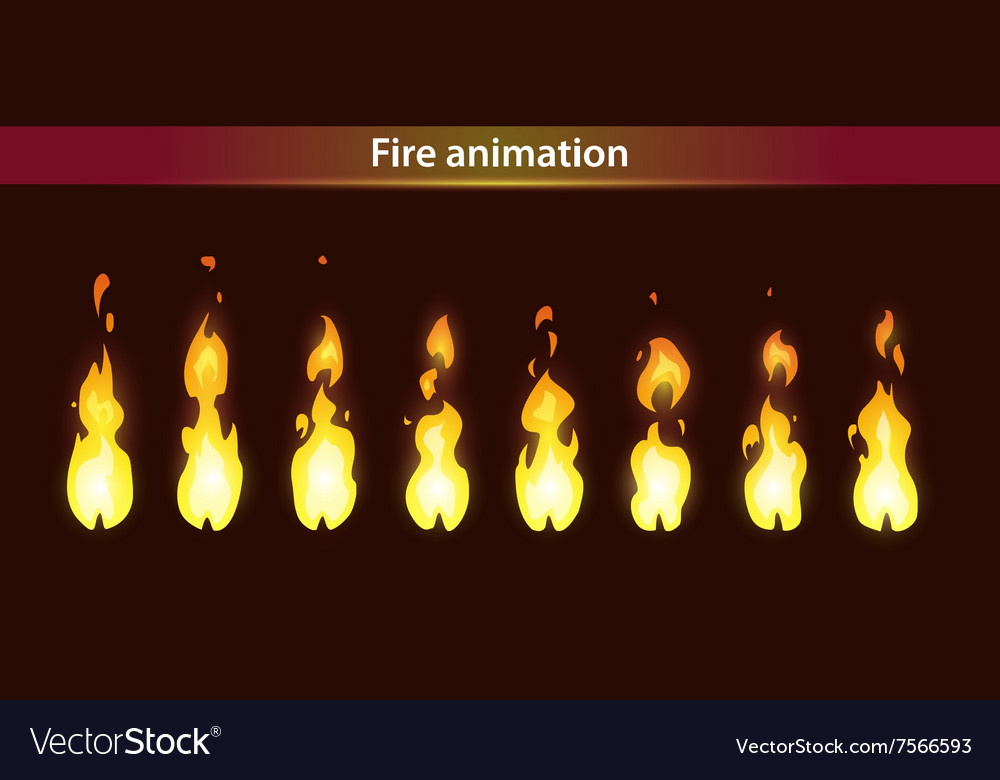 Fire animation sprites vector