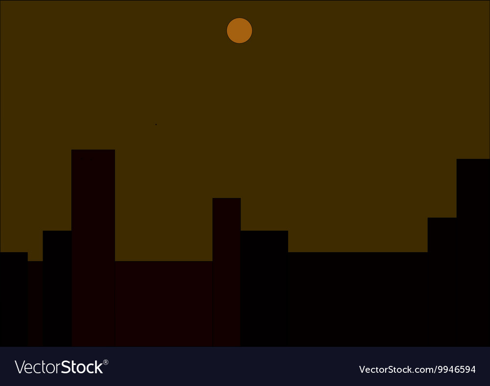 Moon over the city vector