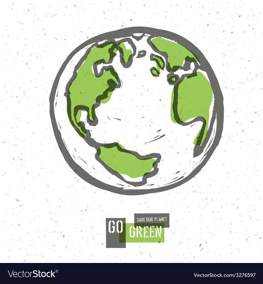 Earth planet go green concept vector