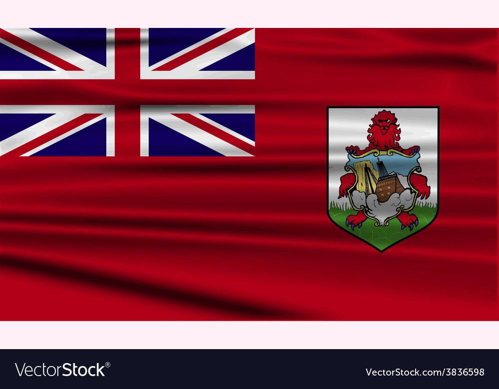 Flag of bermuda with old texture vector