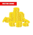 background with golden coins realistic vector image