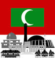 Maldives vector image vector image