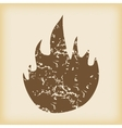 Grungy fire icon vector image
