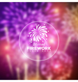 blurred holiday firework background vector image