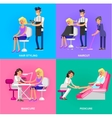 template for beauty saloon vector image