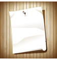 Blank paper page vector image