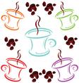 cup of coffee cartoon art vector image
