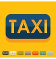 Flat design taxi vector image