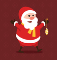 Merry little Santa Claus vector image