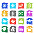 nature web icons vector image