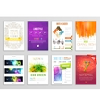 Set of Flyer Brochure Background Infographic vector image